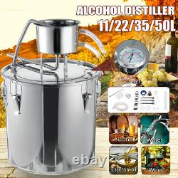 11/22L Moonshine Still Water Wine Maker Alcohol Distiller Boiler Kit Home