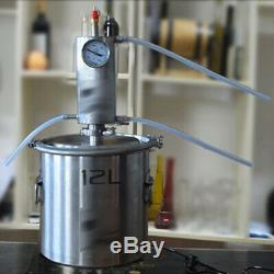 12L/20L Home Brew Water Alcohol Wine Distiller Stainless Steel Moonshine Still