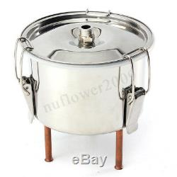 12L Alcohol Stainless Distiller Home Brew Moonshine Copper Wine Making Boiler