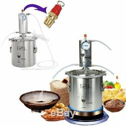 12L Home Distiller Moonshine Spirits Still Water Alcohol Water Oil Brewing Sets