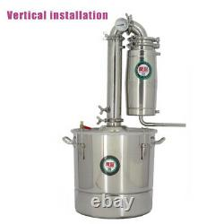 20L/30L Home Distiller Moonshine Alcohol Stainless Boiler Water Wine Brewing Kit