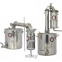 20L/5 Gal Home Water Distiller Alcohol Essential Oil Brew Kits Moonshine Still