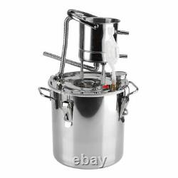 20L Alcohol Distiller Brewing Kit Moonshine Stainless Wine Boiler Home Brewing