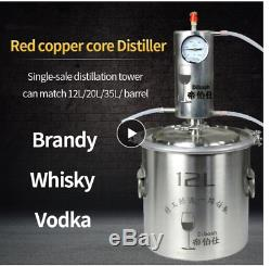 20L Distiller Moonshine Alcohol Stainless Copper DIY Home Water Wine Essential