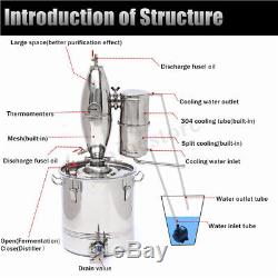 20/30/50L Distiller Moonshine Spirits Still Water Alcohol Water Oil Brewing Kit