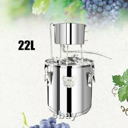 22L Moonshine Still Distiller Alcohol Whisky Essential Oil Water Stainless SALE