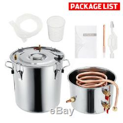 2/3/5/8 GAL Moonshine Alcohol Distiller Still Stainless Water Wine For Home DIY