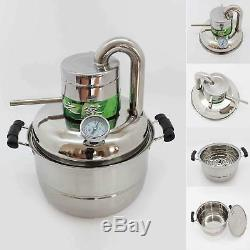 2 GaL 10L Stainless Home Alcohol Elcohol Distiller Moonshine Still Brew Kit Pump