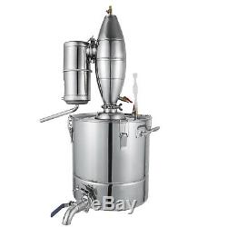 30L Alcohol Distiller Moonshine Water Copper Wine Making Boiler Brew Stainless