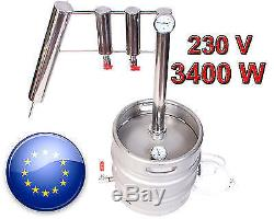 30 L Professional distiller STILL moonshine brew alcohol alembic ELECTRIC 2000 W