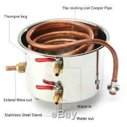 35L DIY Stainless Steel Alcohol Moonshine Water Copper Home Alcohol Distiller UK