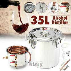 35L Stainless Steel Alcohol Moonshine Water Copper Home Alcohol Distiller