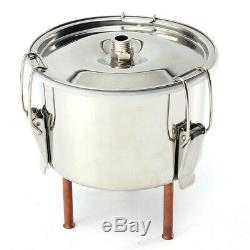 3 Gal 3L Alcohol Water Distiller Moonshine Still Stainless Boiler With Thumper