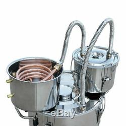 3 Pots 3/5/8Gal Alcohol Moonshine Water Copper Home Stainless Alcohol Distiller
