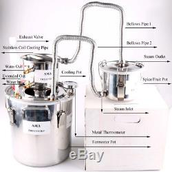 3 Pots Alcohol Home Still Moonshine Copper and Stainless Steel Distiller 10-30L