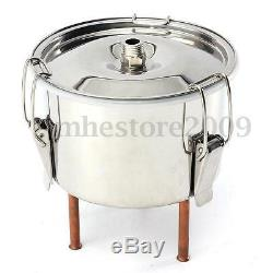 5Gal Copper Still Water Distiller Alcohol Moonshine Stainless Boiler