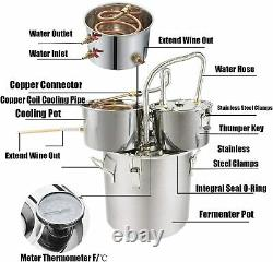 5 Gal 3 Pots Moonshine Still Stainless Distiller Alcohol Whisky Essential Water