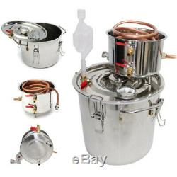 5 Gal Home Alcohol Distiller Moonshine Stainless Steel Water Alcohol Oil Brew