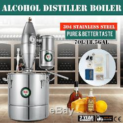 70L Stainless Alcohol Alembic Distiller Moonshine Ethanol Still Wine Making Home