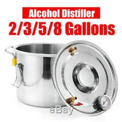 8/12/20/30L Moonshine Alcohol Distiller Still Stainless Water Wine For Home DIY