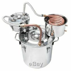 8 Gal/30l Stainless Alcohol Distiller Home Brew Kit Moonshine Wine Making Boiler