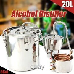 Alcohol Distiller With Thumper Keg DIY Handmade Moonshine Water Copper 20L 5Gal