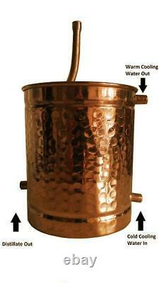 Alembic Copper Still With Thermometer, 3 Litres, Alcohol, Hydrosol, Moonshine