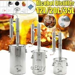 Distiller Moonshine Alcohol Stainless Copper DIY Home Water Wine Kit Comprises