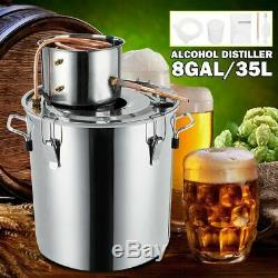Distiller Moonshine Alcohol Stainless Copper DIY Home Water Wine Oil Brewing Kit