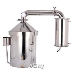 Home 32L Moonshine Still Distiller Spirit Wine Alcohol Vodka Oil Boiler Brew Kit