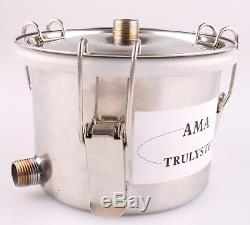 Home 5GAL 3 Pots Stainless Steel Moonshine Still Water Alcohol Oil Distiller