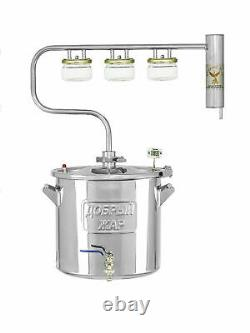Home Alcohol Distiller Moonshine Still Ray STAINLESS 5, 6, 7, 10 gallons