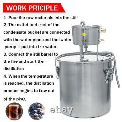 Moonshine Still 3Gal/11L Water Alcohol Distiller Home Brew Wine Making