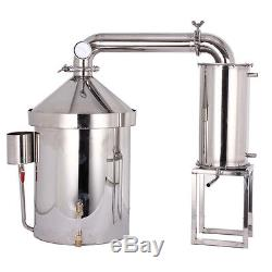 Moonshine Still 48 L DIY Home Distiller Water Alcohol Wine Whisky Oil Brew Kits