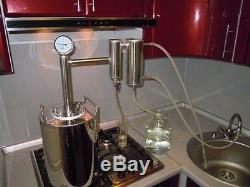Moonshine, distiller, alcohol 15 liters (4 gal) made in Russia