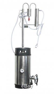 Stainless Steel Electrical Alcohol Distiller Home Moonshine 96% reflux condenser